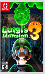 Cover of the Luigi's Mansion 3 game on Nintendo Switch.