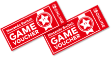 Nintendo Game vouchers.